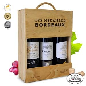 Les Médaillés Bordeaux 3 bouteilles