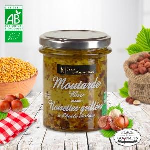 Moutarde bio aux noisettes grillées Jean d'Audignac