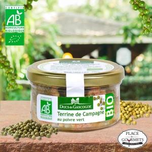 Terrine bio de Campagne au poivre vert
