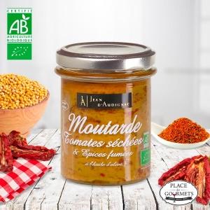 Moutarde bio tomates séchées et épices fumés
