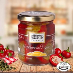Piments forts farcis au thon, câpres et anchois, à l'huile d'olive extra vierge