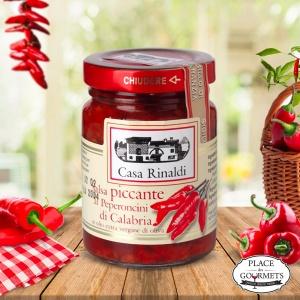 Sauce tomate piment de Calabria à l'huile d'olive extra vierge, pour pâtes italiennes