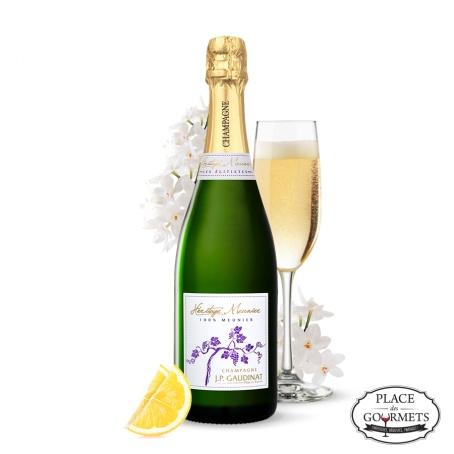 Champagne blanc de noirs brut JP Gaudinat Héritage Meunier