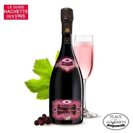 Perla Rosa Champagne Marc, champagne grand cru millésimé 2009 rosé de saigné