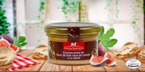 Gourmandise de bloc de foie gras de canard à la figue
