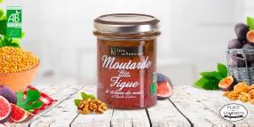 Moutarde bio aux figues et éclats de noix