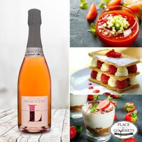 Champagne vegan rosé Legret & Fils Corolle