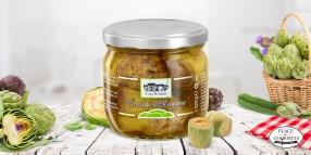 Artichauts à la romaine, à l'huile d'olive extra vierge
